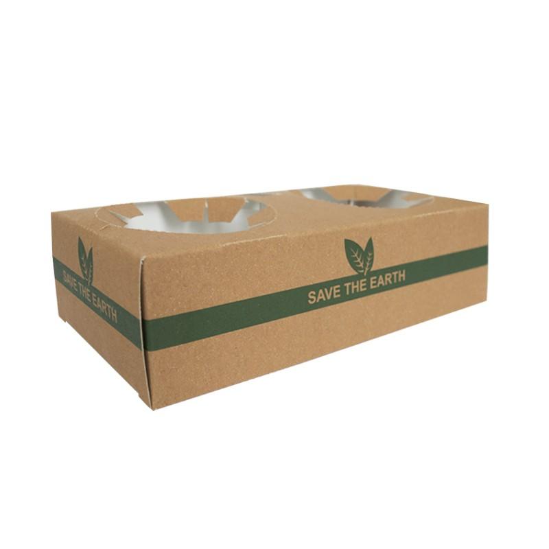 Portavasos de Cartón 2 Huecos 'Save the Earth' (50 uds)