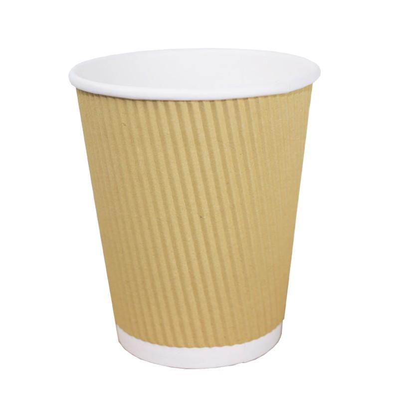 Vaso de Cartón rayado 240 cc 8 Oz (50 Uds)