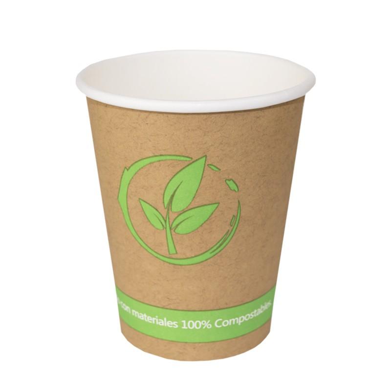 Vaso de cartón Biodegradables 200 cc 7 Oz (50 Uds)
