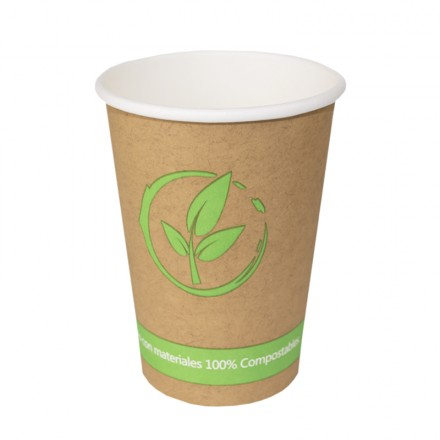 Vaso de cartón Biodegradables 360 cc 12 Oz (50 Uds)