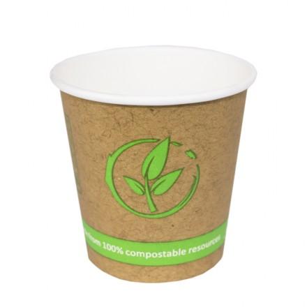 Vaso de cartón Biodegradables 120 cc 4 Oz (50 Uds)