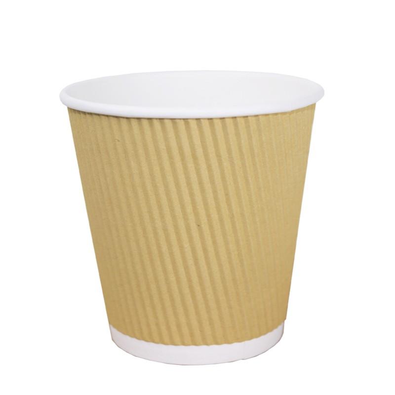 Vaso de Cartón rayado 120 cc 4 Oz (50 Uds)