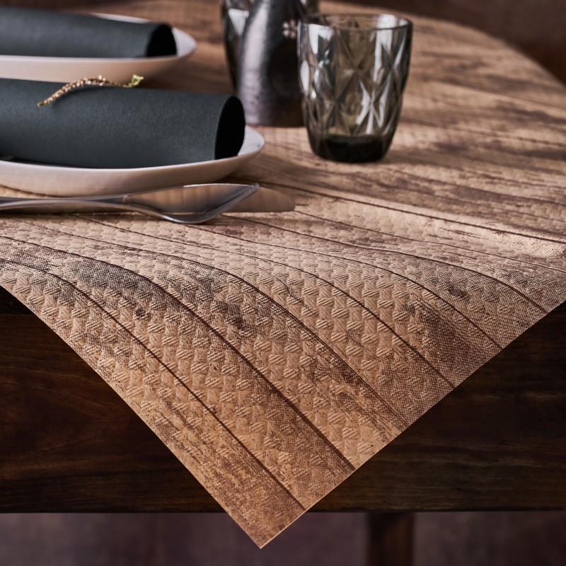 Mantel Papel Reciclado 100x100 cm Tablas (400 uds)