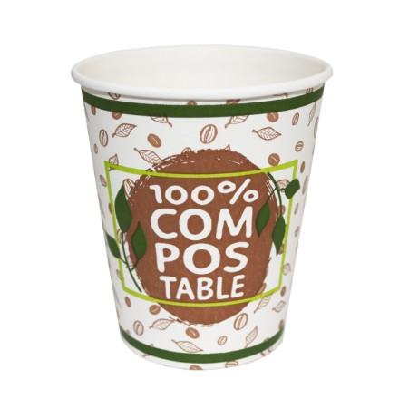 Vaso Compostable 200 cc Vending (100 Uds)