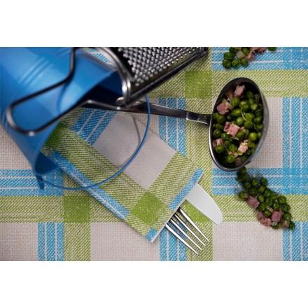 Sobre Portacubiertos Cuadros Tartan Azul y Verde (1.000 uds)